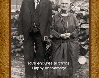 Anniversary Greeting Card Can be personalized with names and a date, or your text on the front!