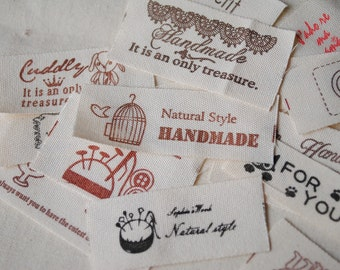 Pack of 20 Cotton Tape Labels