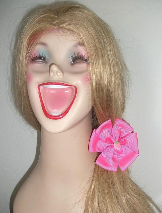 Pink Grosgrain Ribbon Hair Bow