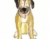 Custom Pet Portrait- watercolor 8 X 10