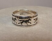 Five Wolves - Sterling Silver Ring - Available for Inside Engraving - 140