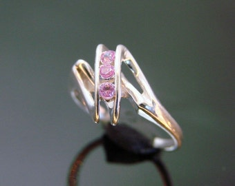 70% OFF Going Out of Business Sale.. Last One. Sterling Silver Ring with Rose- Pink Tourmaline Size - 5.5