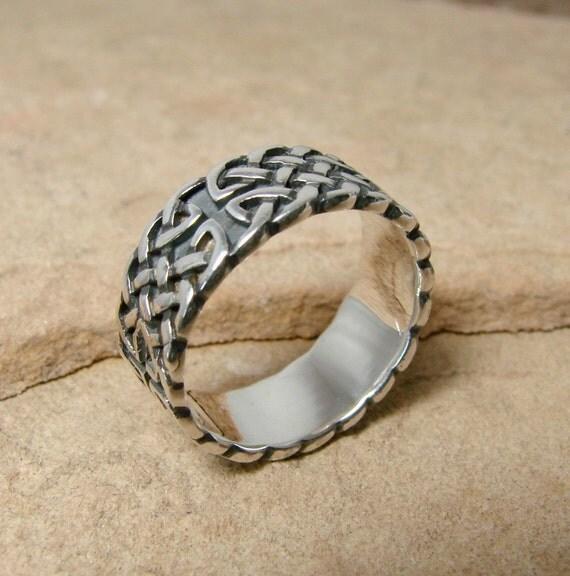 Celtic Cross - Sterling Silver Ring - 200