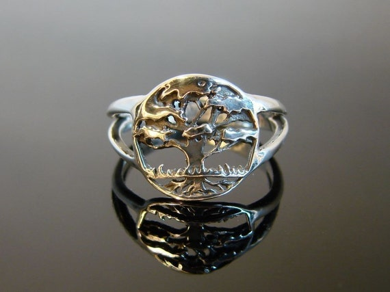Tree of Life - Sterling Silver Ring - 95