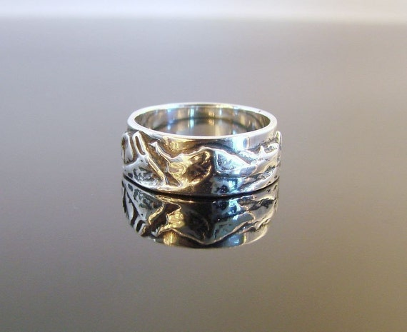 Mountain Ring - Sterling Silver - Available for Inside Engraving -115