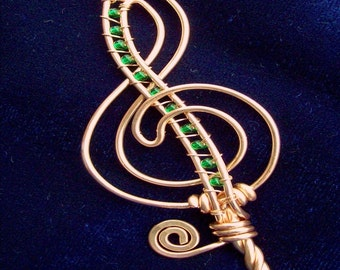 Treble Clef Bubble Wand (small), Perfect Gift for a music lover, music wand, Party favor, Music, Music note