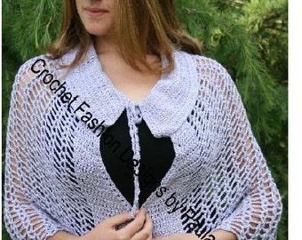 Popcorn Shawl: PDF Crochet Pattern