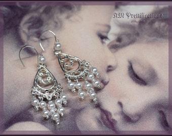 Enchanting Bride - Chandelier Pearl Earrings