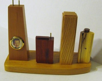 Chicago Cityscape Made Of Five Woods