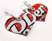 Recycled Jewelry Dr. Pepper Earrings