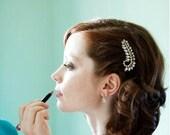 50% OFF SALE - Clear Drop Earrings . Clear Quartz Earings . Small Dangle Post Earrings . Alternative April Birthstone Earrings - Shimmer