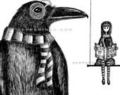 RONALD and REGINA // The Poe Fan Club fine art print