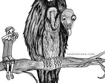 VIKTOR and VINCENT // 8x10 Vulture Fine Art Print