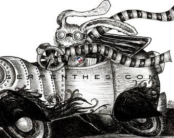 H. GATSBY // 8x10 Hot Rod Rabbit fine art print