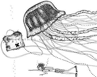 JUSTIN and JENNICA // 8x10 Jellyfish Fine Art Print