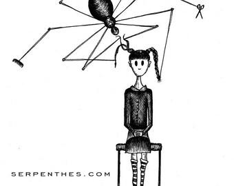 MISS SPIDERS SALON // 8x10 fine art print