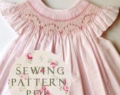 The Charming Bishop Dress 1 year - Sewing PDF Pattern - How to Make - Upbringing Dress One Size - No Side Seams - Easy Way