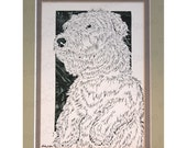 Glen of Imaal Terrier Papercutting- Handcut Original