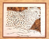 Cheetah Papercutting- Handcut Original