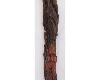 Handcarved Cottonwood Woodspirit 2011-38