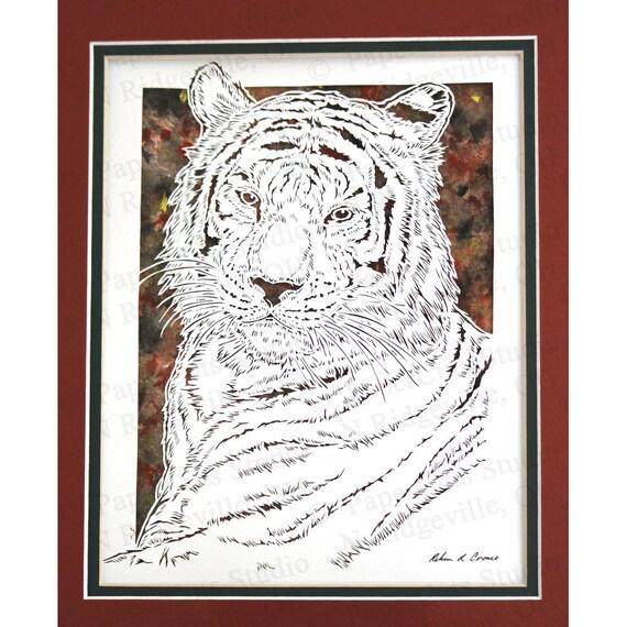 Siberian Tiger Papercutting- Handcut Original
