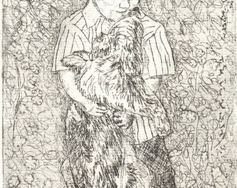 Gracie and Austin - Original Intaglio\/Etching