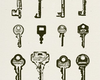 Keys (Found Objects)