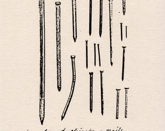 Found Objects - Nails (Limited Edition Print)