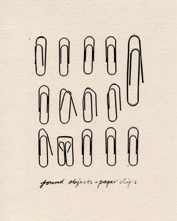 Found Objects - Paper Clips (Limited Edition Print)