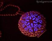 Steampunk Fairy Glow in the Dark Locket Violet