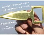 Belt Buckle Knife - Brass