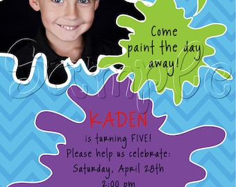 25 5x7 Arts and Crafts Photo Birthday Party Invitations