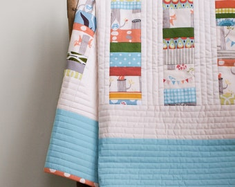 Modern Patchwork Quilt; Design your Own Custom, Handmade Organic Quilt; Crib, Toddler, Throw, Twin, Double, Queen, King; PATCHWORK STACKS