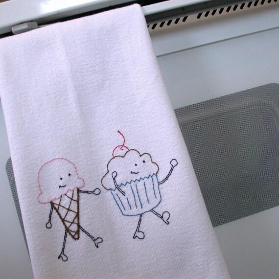Dancing Sweet Treats Embroidery Pattern