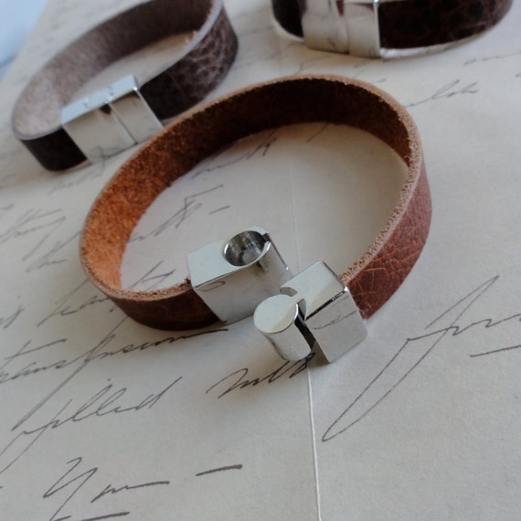 Eco Friendly Leather Bracelet Cuff