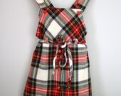 70s Plaid Girls Jumper Dress 2T 3T - babyshapes