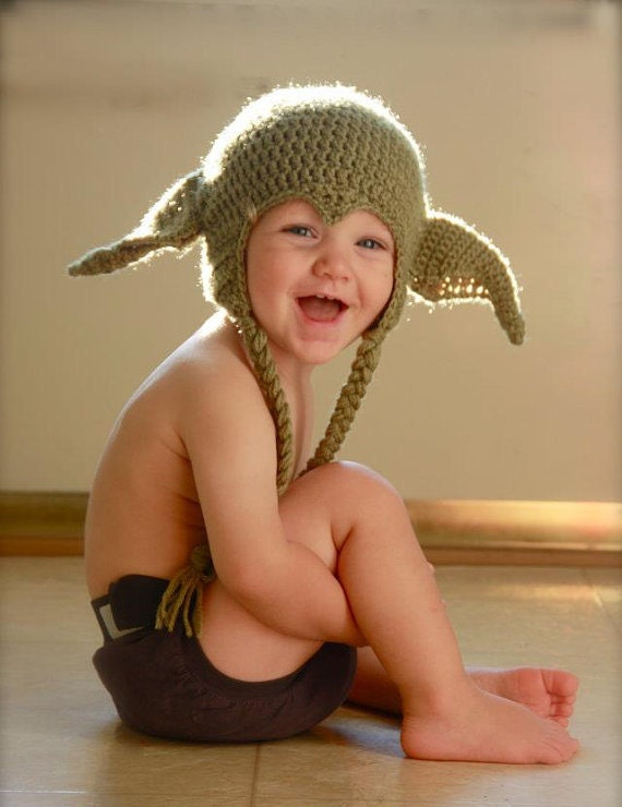 READY TO SHIP. Handmade Star Wars Yoda hat - infant size 6-9 months, 6-12 months.