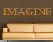 Vinyl Wall Decal - Imagine sketch lettering