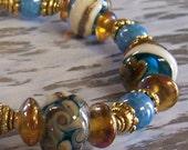 MAKENA lampwork glass bracelet