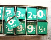 Vintage 1940's General Store Price Numbers Deadstock