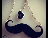 Moustache laser cut necklace