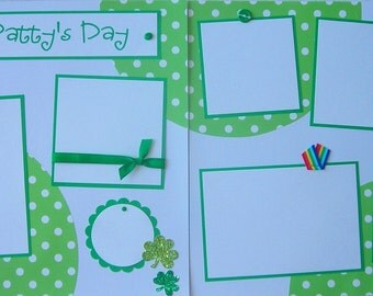 12x12 Premade Scrapbook Pages Layout -- St PaTTy'S DaY -- ST PATRICK'S DAY, St. Paddy's Day, family, boy or girl, March 17th