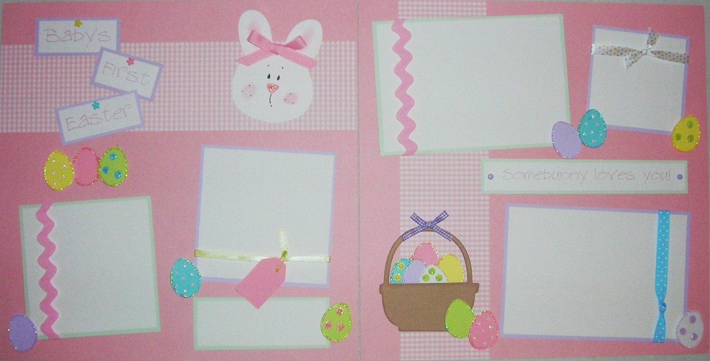 Scrapbook ideas easter -  Like This Item Easter Scrapbook Layout Idea Embellishing