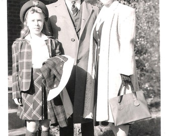 Vintage Original Photo from 1941- Family of 3- so charming