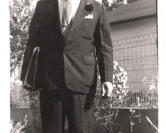 Vintage Original Photo from 1943 - Dapper Dad