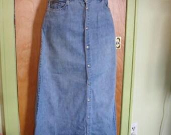 Vintage Calvin Klein Denim Skirt Size 4