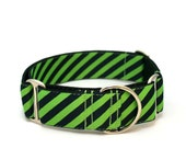 "1.5"" dog collar Dad's Striped Tie wide buckle or martingale collar"