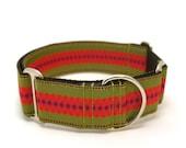 "1.5"" dog collar Junebug buckle or martingale collar"