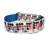 "1.5"" dog collar Candied Island buckle or martingale collar"