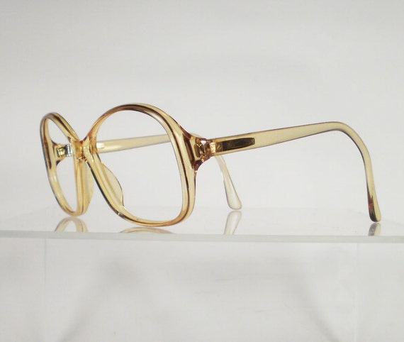 Clearance ZEISS Gold Oversized Vintage Eyeglass Frames